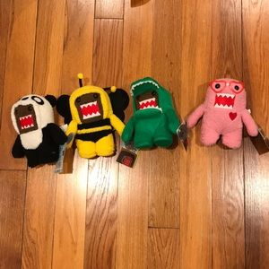 4 limited edition stuffed domos.